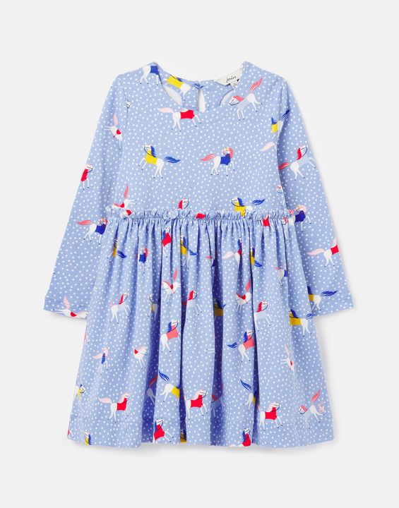 Joules Girls Hampton Paperbag Waist Jersey Dress 1-12 Years - Spothrse