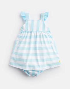 43ae5c9a0f Penny AQUA WHITE STRIPE Jersey Dress And Knickers Set | Joules UK