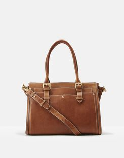Joules UK Hathaway Womens Leather Everyday Bag TAN