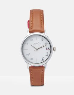 Joules UK Marianne Womens Ladies Leather Strap Watch TAN