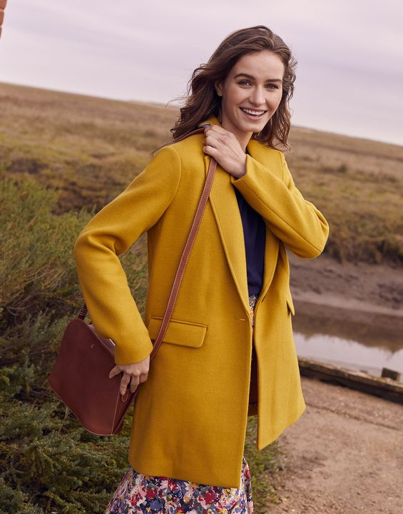 Joules Womens Eve Over Coat - Caramel
