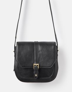 Joules US Saddle Womens Leather Bag BLACK