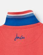 Joules Boys Woody Polo Shirt DARK DAHLIA PINK