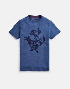 Joules UK Graphic Tee Mens Printed Crew Neck T-Shirt FRENCH NAVY MARL