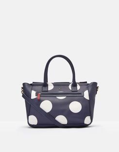 Joules UK Day To Day Print Womens Pu Everyday Bag NAVY SPOT