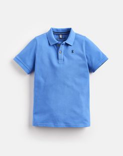 Joules US Woody Older Boys Polo Shirt 1-12 Yr BLUE