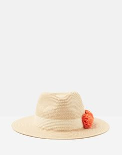 88b3a99a ... Embroidered Sun Hat RED PLACEMENT FLORAL. Joules US Dora Pom Womens Sun  Hat With Poms CANTELOUPE ORANGE ...