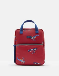 Joules US Adventure Boys Rubber Rucksack RED PLANES