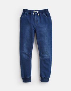 Joules UK Bowen Older Boys Denim Jersey Joggers 1-12 Yr DENIM