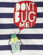 Joules Boys Ray Glow In The Dark T Shirt Yr in NAVY STRIPE BUG