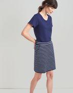 14453f268f Joules UK Portia Womens Jersey Skirt NAVY CREAM STRIPE
