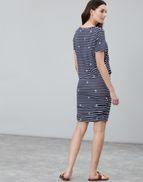 2abcf2f4ac Joules UK Candice Womens V Neck Jersey Dress With Gathered Skirt NAVY DAISY
