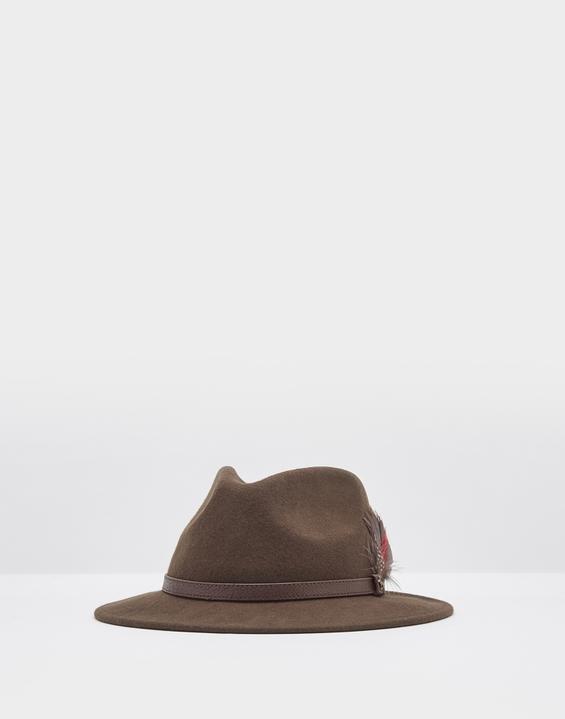 Joules US Fedora Womens Felt Hat DARK BROWN b8ef6abfd7d1
