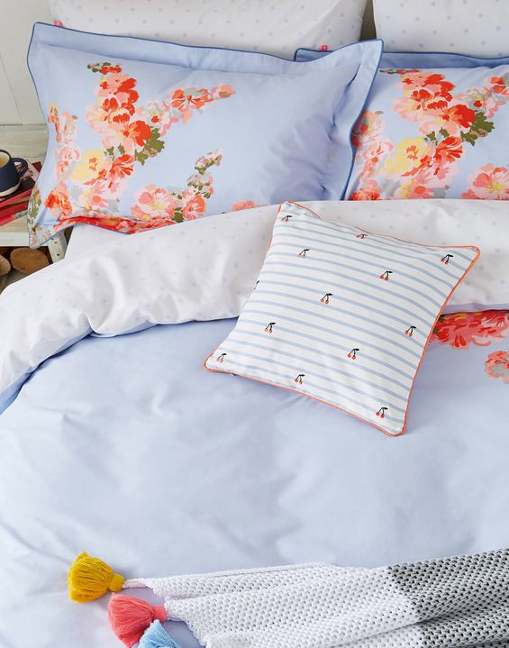 Hollyhock Fl Oxford Pillowcase