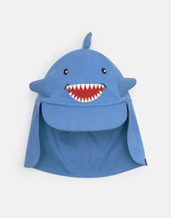 Joules US Sunfun Baby Boys Character Hat BLUE SHARK