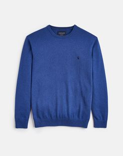 Joules UK JARVIS Mens Cotton Crew Neck Jumper BLUE MARL