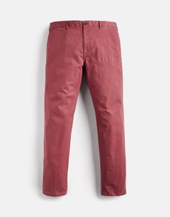 Joules US The Laundered Chino Mens Slim Fit Pants WASHED RED