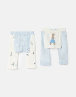 Joules US Lively Baby Girls Official Peter Rabbit™ Collection 2 Pack Intarsia Leggings MULTI PETER RABBIT