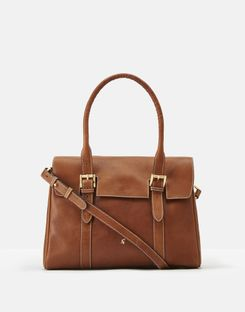 Joules UK Durham Womens Leather Tote TAN