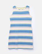 Joules Womens Riva Stripe Sleeveless jersey dress BLUE MULTI STRIPE