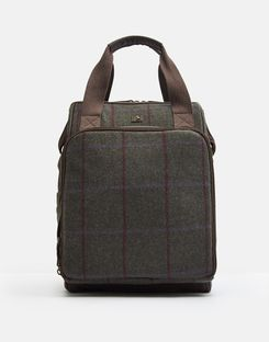 Joules UK Tweed Picnic Homeware Rucksack GREEN TWEED