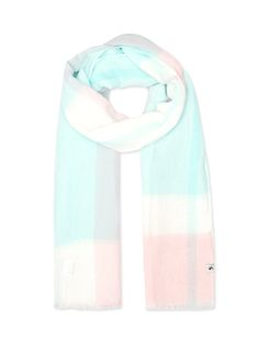 Joules UK Talia Womens Lightweight Cotton Scarf LIGHT PINK CHECK