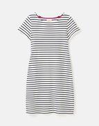 BLUE CREAM STRIPE Joules 210413 Sleeveless Jersey Dress Longer Length