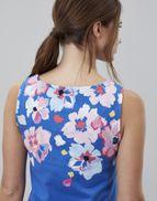 b53694fa306 Joules UK Riva Print Womens Sleeveless Jersey Dress MID BLUE BORDER FLORAL