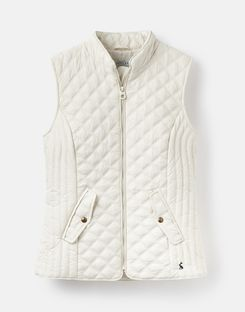Joules US Minx Womens Quilted Vest WINTER WHITE