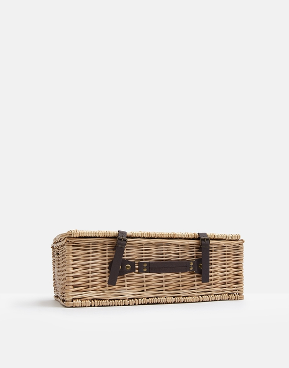 Joules UK Tweed Picnic Homeware Basket GREEN BLUE TWEED