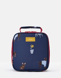 Joules UK Picnic Lunch Bag Homeware Printed And Fully Insulated BLUE DOGS