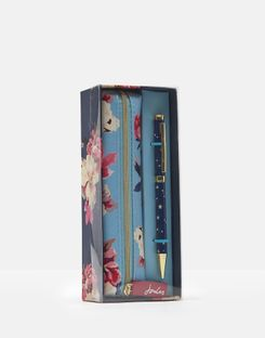 Joules UK Pen and Pouch Homeware Set NAVY BIRCHAM BLOOM