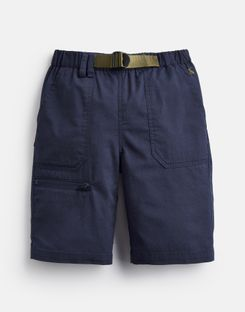 Joules US Sam Older Boys Woven Shorts And Belt 3-12 Yr FRENCH NAVY