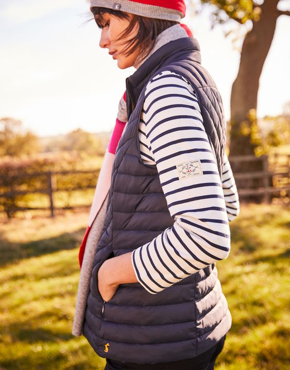 Joules UK BRINDLEY Womens Quilted gilet MARINE NAVY