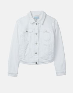 Joules US Elsa Womens Denim Jacket BRIGHT WHITE