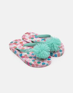 Tom Joule Kleider - Joules Germany JNR Girls Flipflops Cremefarben Fee Kunterbunt