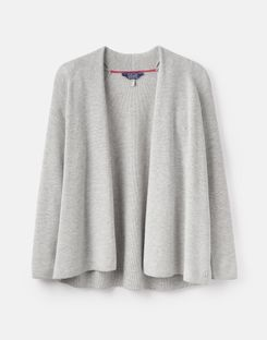 Joules UK Dawn Womens Easy Knitted Cardigan GREY MARL