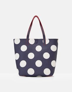Joules UK Revery Print Womens Pu Shopper NAVY SPOT