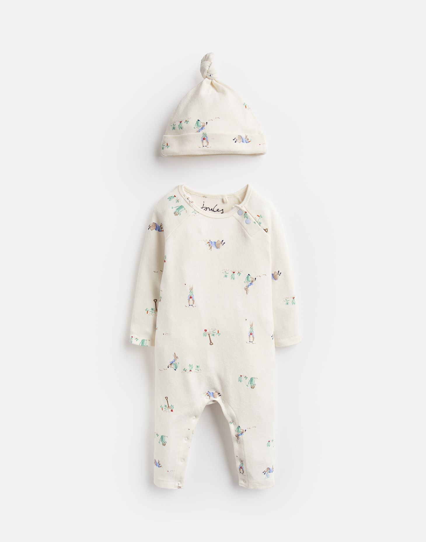 GIGGLE OFFICIAL PETER RABBIT™ COLLECTION SUPERSOFT BABYGROW AND HAT SET
