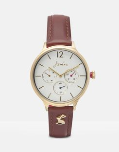 Joules UK Darcy Womens Ladies Leather Strap Watch TAN