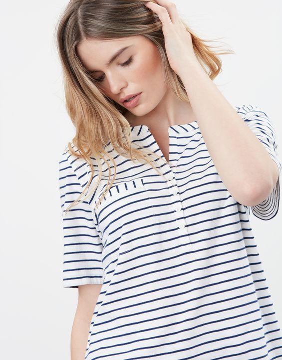 Joules Womens Ada Stripe Henley Top - Multi Stripe