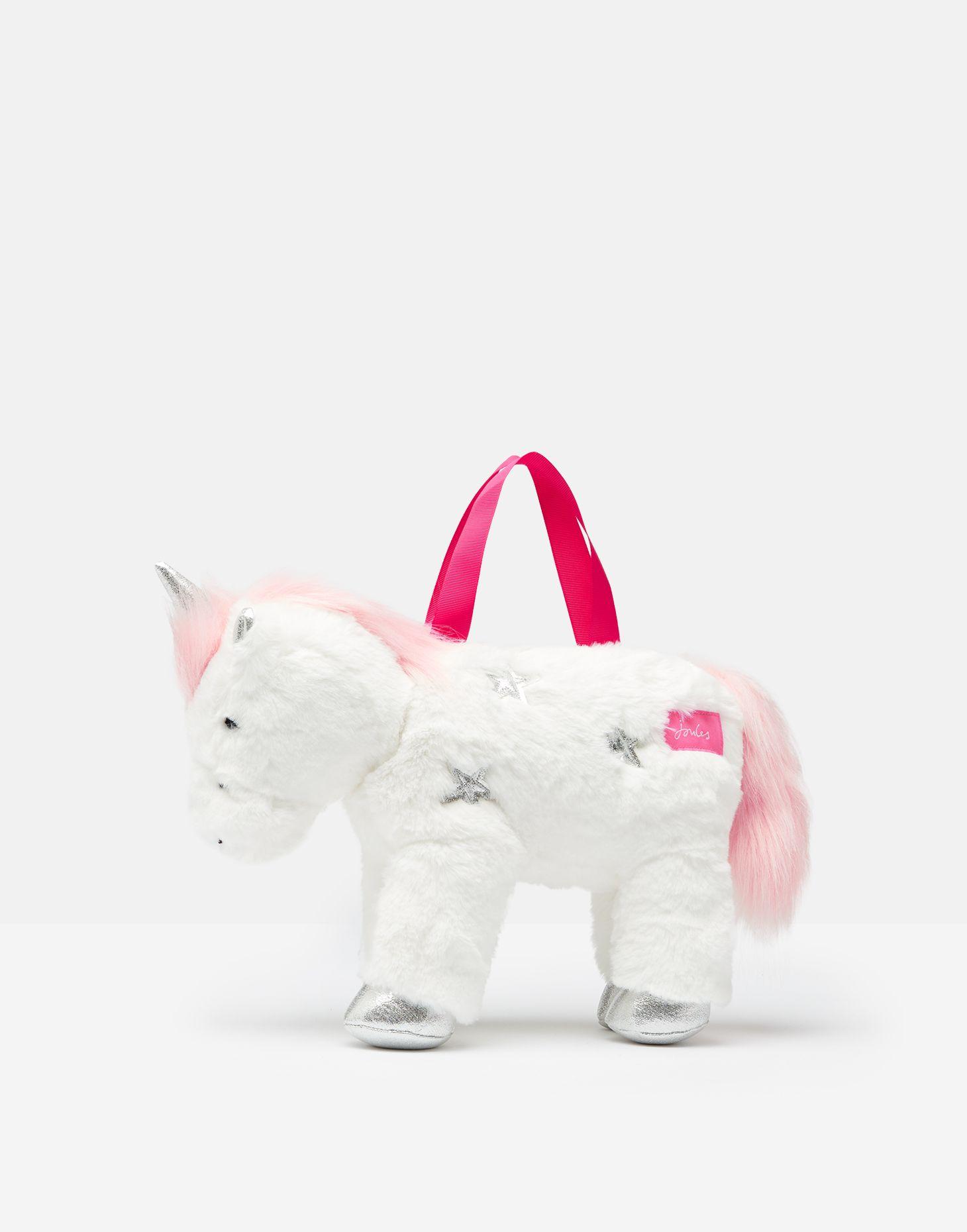 Joules Girls Sparkle Unicorn Bag WHITE