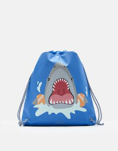 Joules US Active Boys Drawstring Bag BLUE SHARK FIN