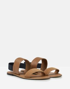 Joules UK Harlow Womens Double Strap Leather Sandals TAN
