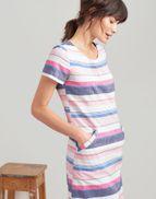 e0d77576fd Joules UK Henrietta Womens Linen Shift Dress BLUE STRIPE