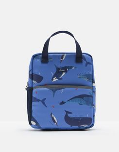 Joules US Adventure Boys Rubber Rucksack BLUE WHALES