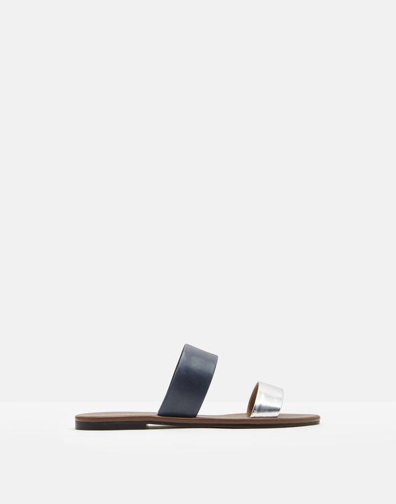 e8402becfa8437 Fenthorpe Two Strap Leather Sandals