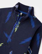Navy Lightning Joules Boys Dale Overhead Sweatshirt