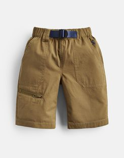 Joules UK Sam Older Boys Woven Shorts And Belt 3-12 Yr OLIVE