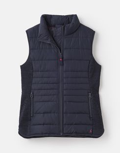 Joules US Fallow Womens Padded Vest MARINE NAVY